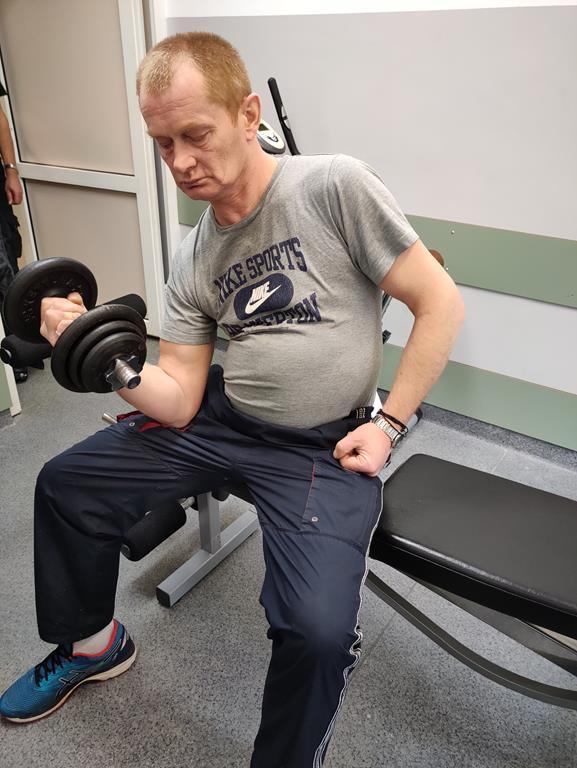 Zajęcia na siłowni w DPS