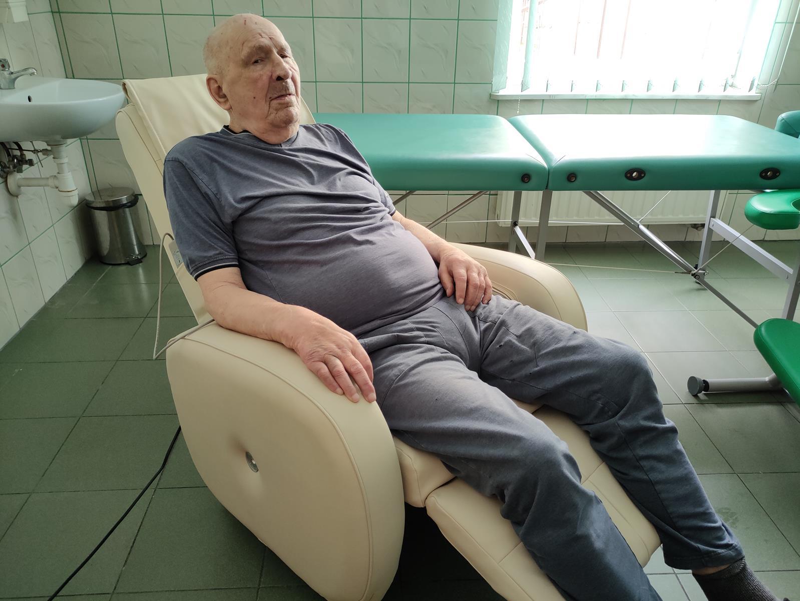 fotel do masażu w DPS w Dębicy