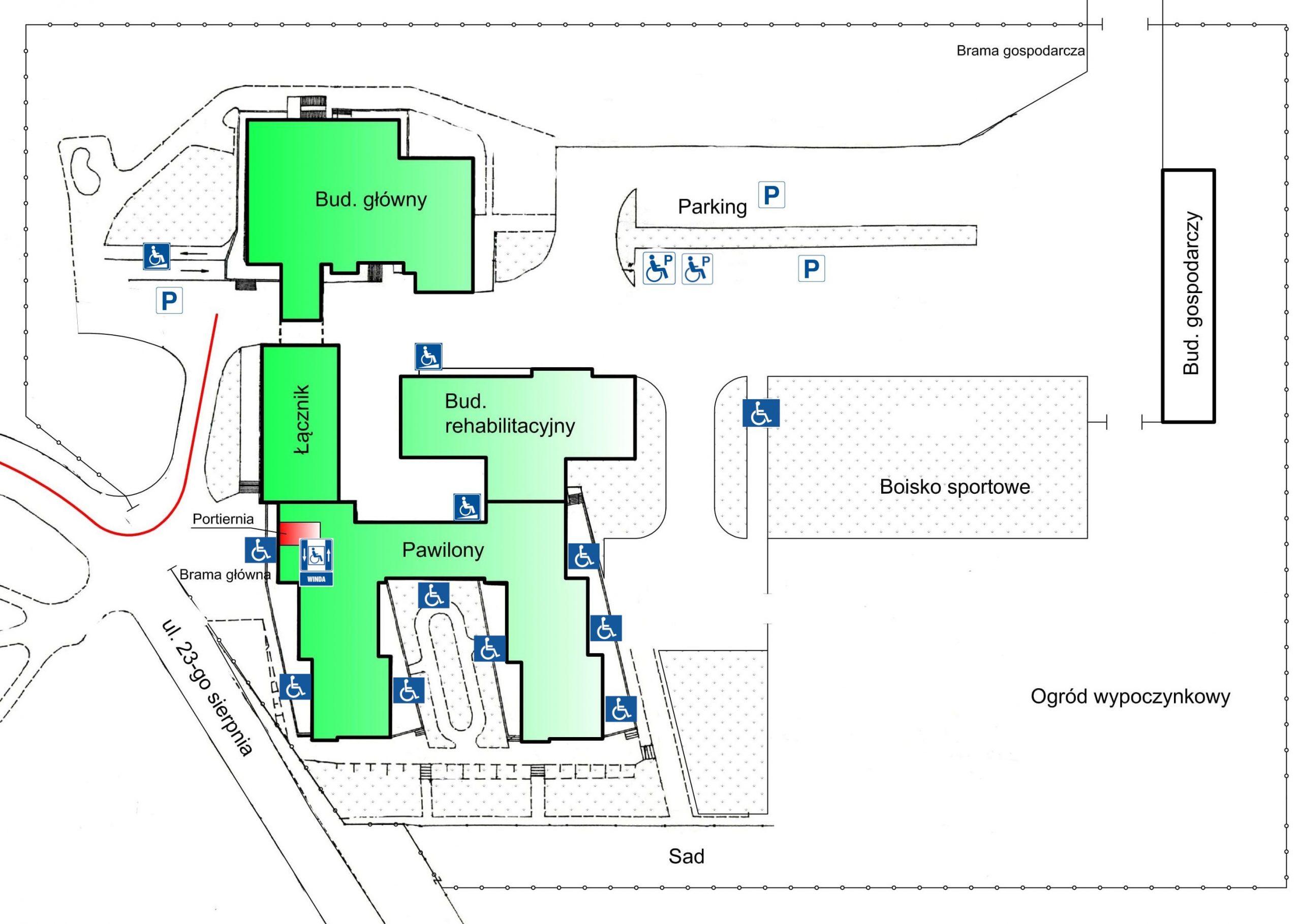plan dostępności w DPS w Dębicy